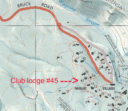 Map of location of WTMC lodge