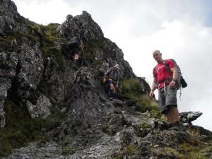Negotiating the Waiohine Pinnacles (Tararua Northern Crossing)