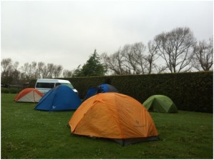 tents at the roadend