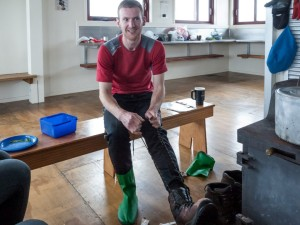 gareth and his new boots