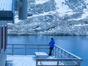 angelus lake from the hut