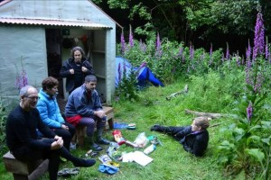 hanging out at washpool hut