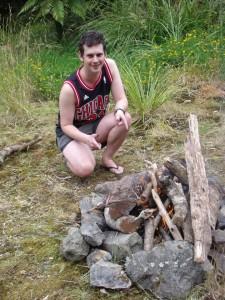 lighting a fire