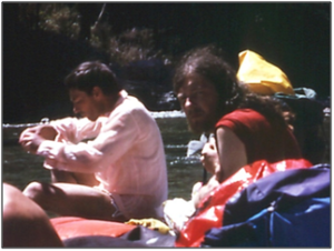 BJ and Harry - Pelorus River 1989 (photo Brian Goodwin)