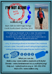 I'm Not Alone Walk of NZ Poster - email