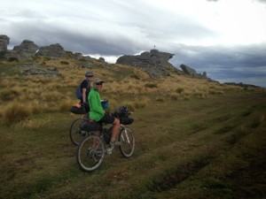 Peter and Andrew; top of Knobbly Range