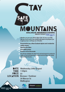 bivouac alpine safety night poster
