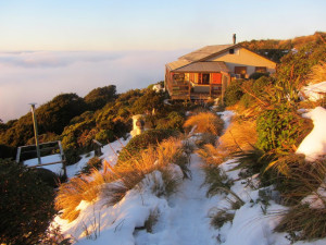 Powell Hut in the morning light
