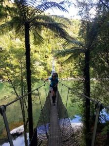 Lisa on bridge