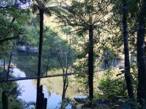 Otaki River swing bridge
