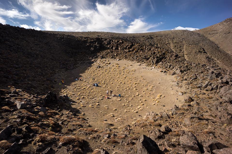 Ruapehu, camping, crater