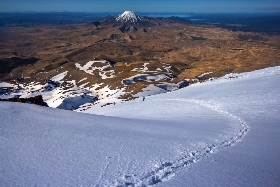 Waihohonu Ridge, Ruapehu, Ngauruhoe, Tama Lakes