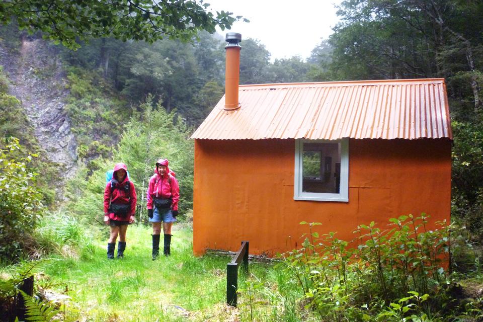 Leaving Upper Makororo Hut
