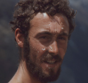 Pete Goodwin after three days on the Bonar Glacier, 1968. Photo: Tony Gazley.
