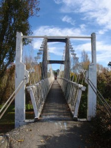 One of Masterton's hidden treasures - a cyclable suspension bridge