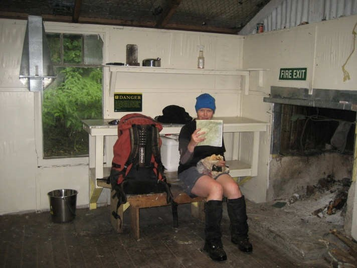 Marie in Joe's Hut