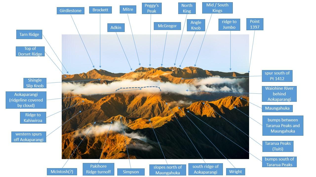 Tararua Peaks Guide