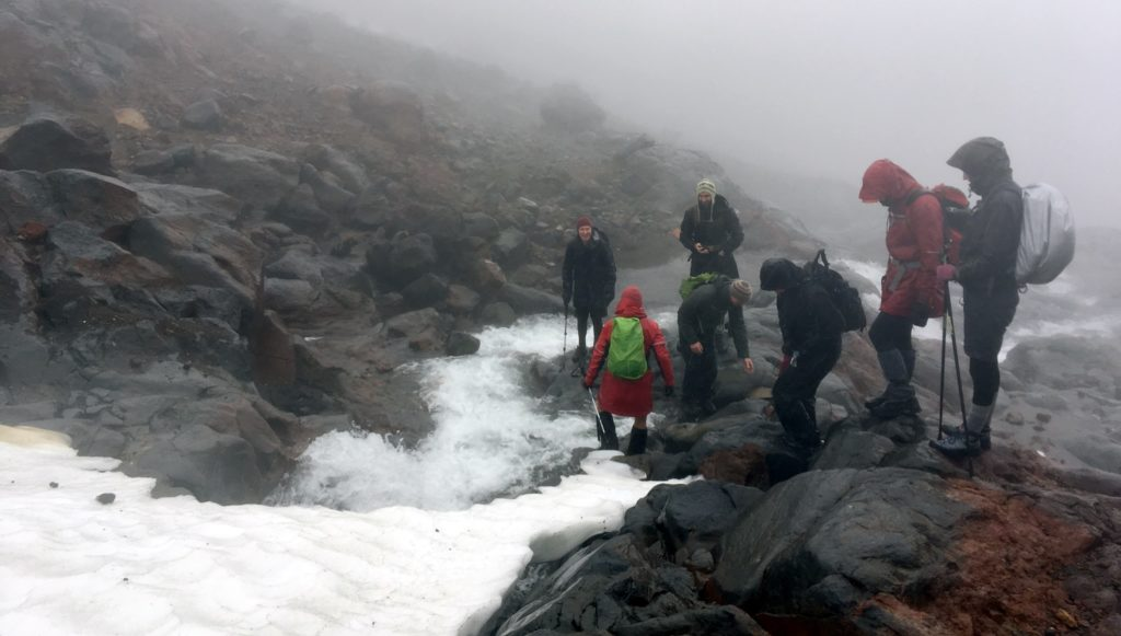 Ruapehu glacier