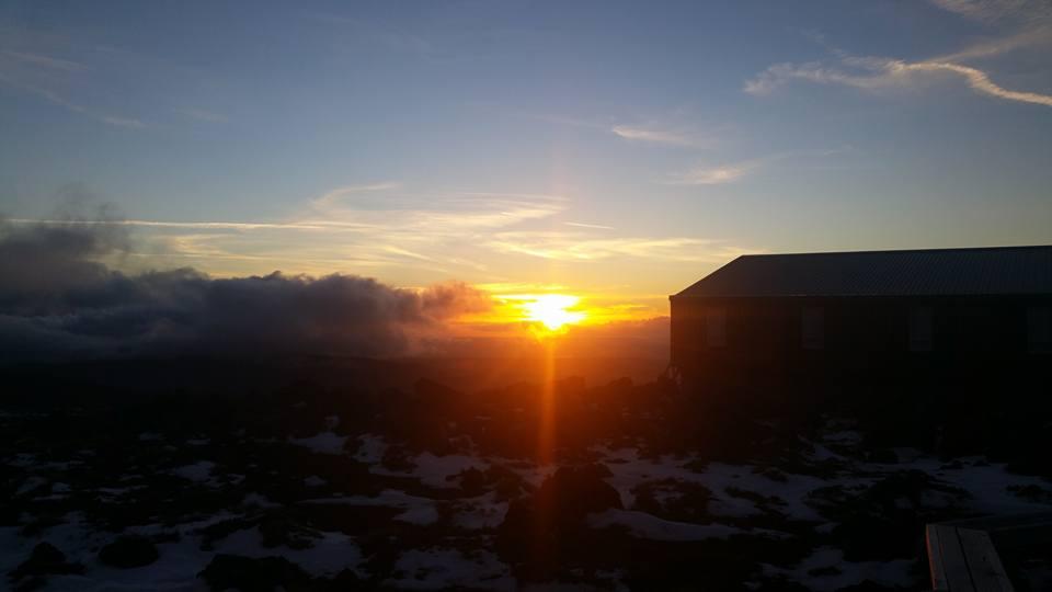Sunset over Mt Taranaki