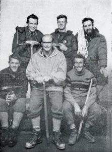 Wellington based WTMC 1968 Andes expedition team