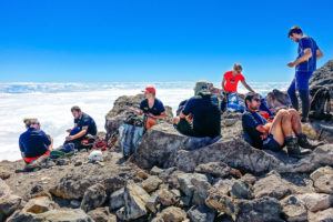 A club trip almost but not quite on the summit of Taranaki