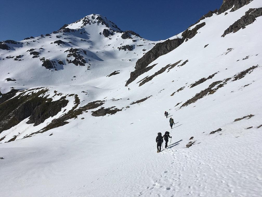 Approaching Mt Angelus