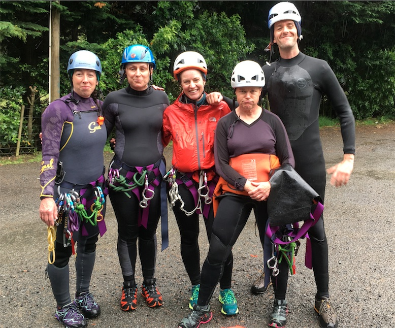 Team Badger post-canyoning adventure