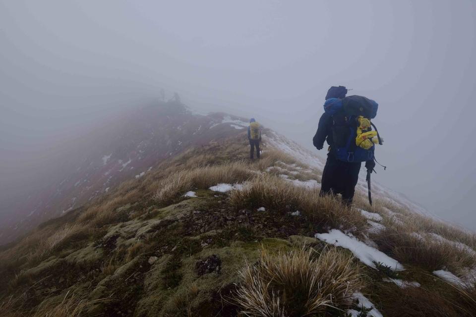 Fog covers ridge