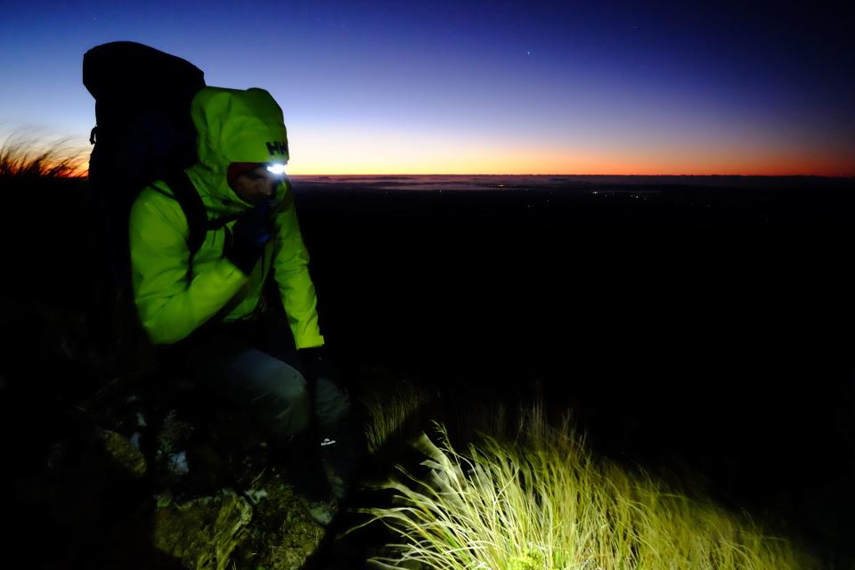 Sunrise in Ruahine Ranges