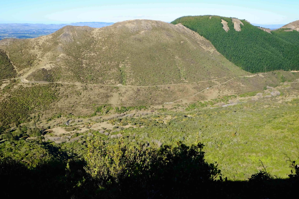 Panoramic view from end of tramp route