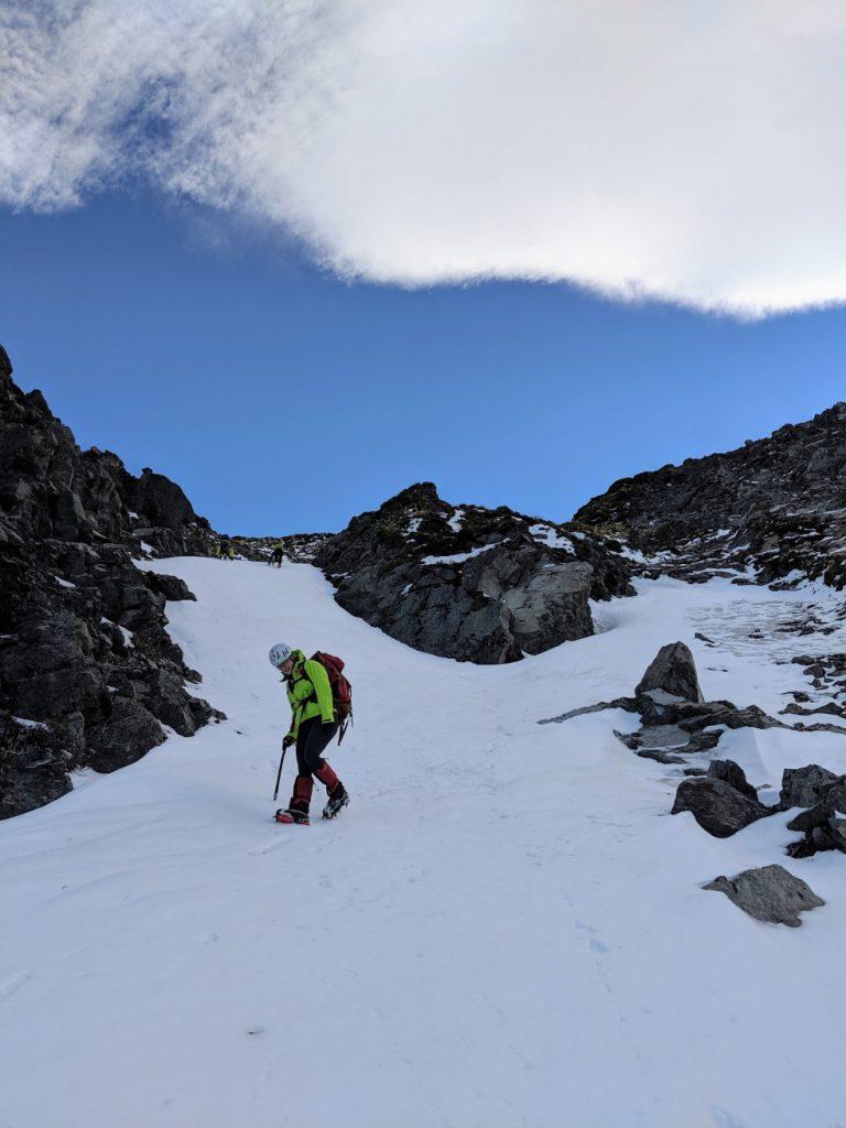 Descending Mt Uwerau