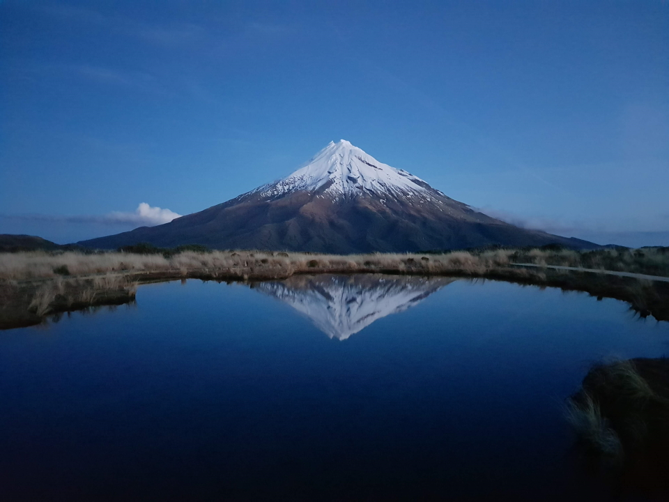 The classic shot of Mount Taranaki (near sunset)