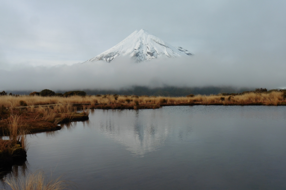 Pouakai Tarn in the morning