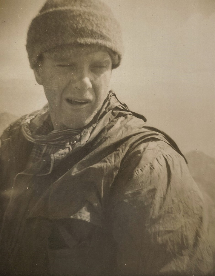 Nick Jennings in 1962 at Mt Tapae-O-Ueneku