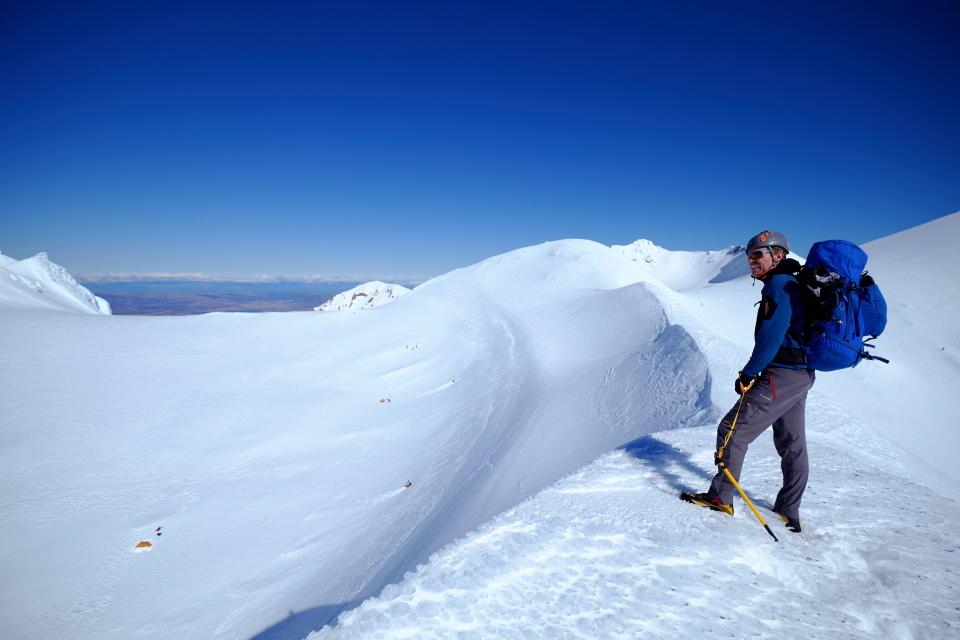 Nick at crater of Mt Ruapehu
