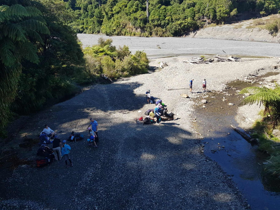Group at the river