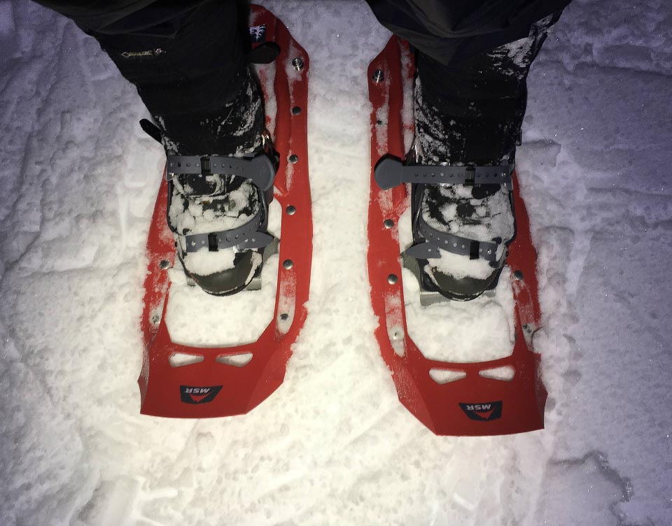 Emily's brand new snowshoes