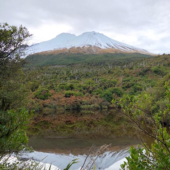 Fanthams Peak reflected in Lake Dive