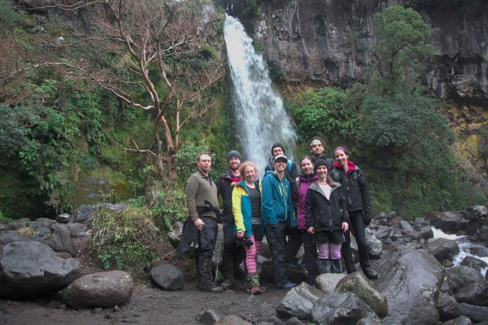Group shot at Dawson Falls