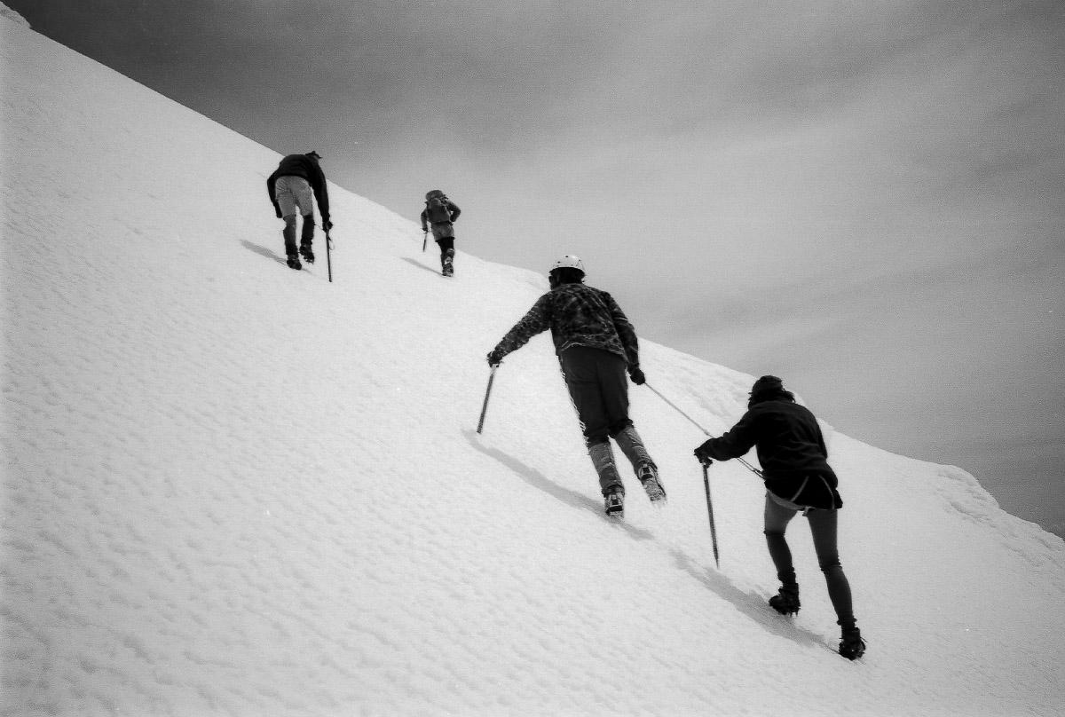 Novice climbers Taranaki