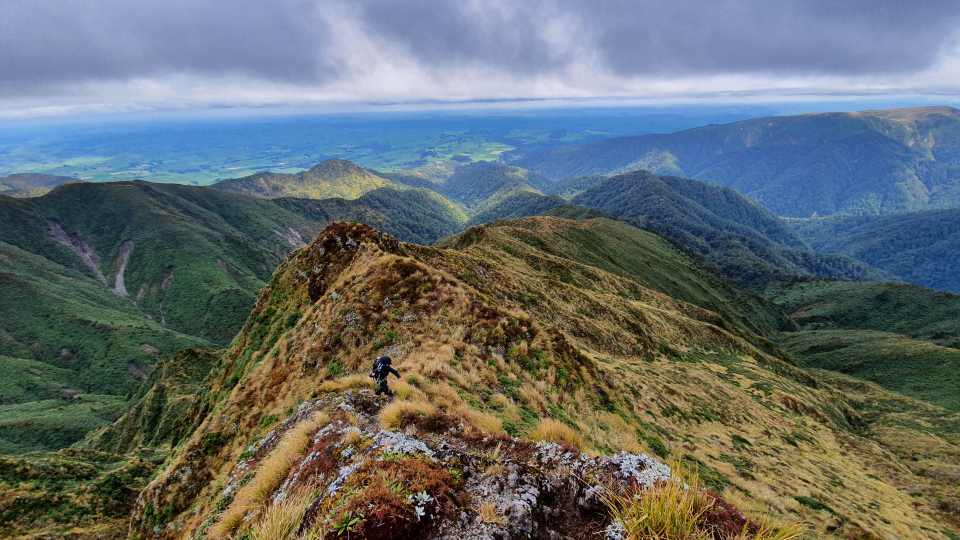Ruahine Ranges above Iron Gate Hut