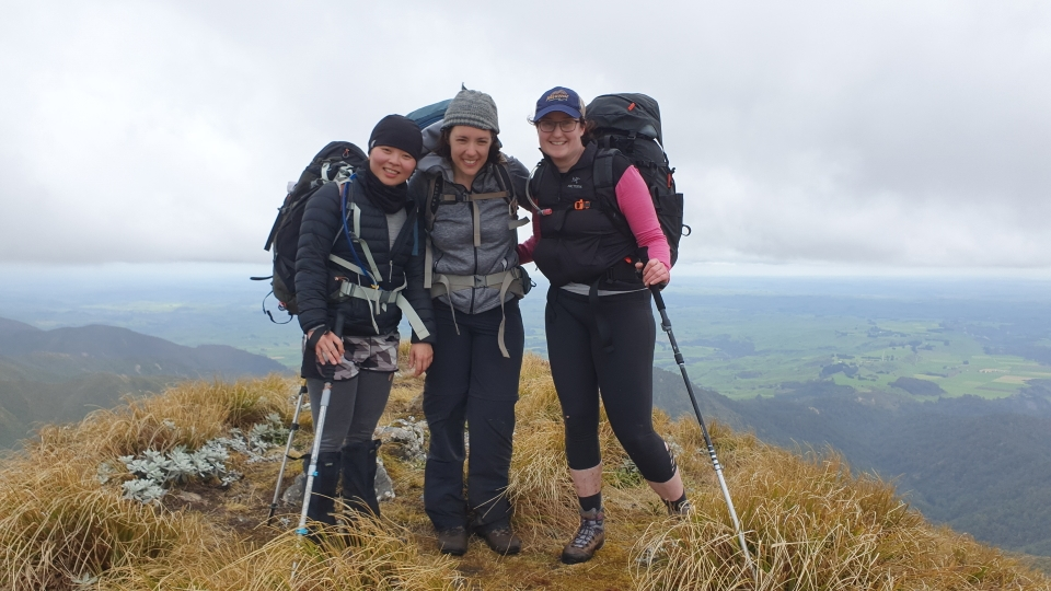 Trampers on a ridge