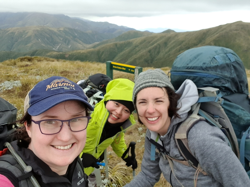 Trampers in the Ruahine Ranges