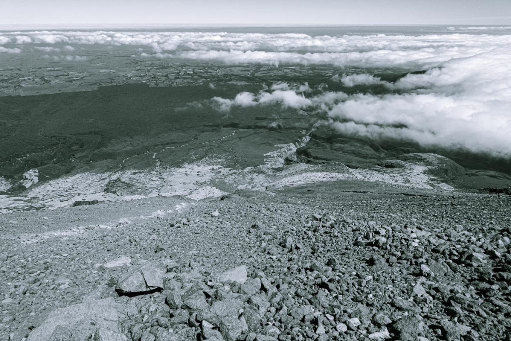 Mt Taranaki west side debris