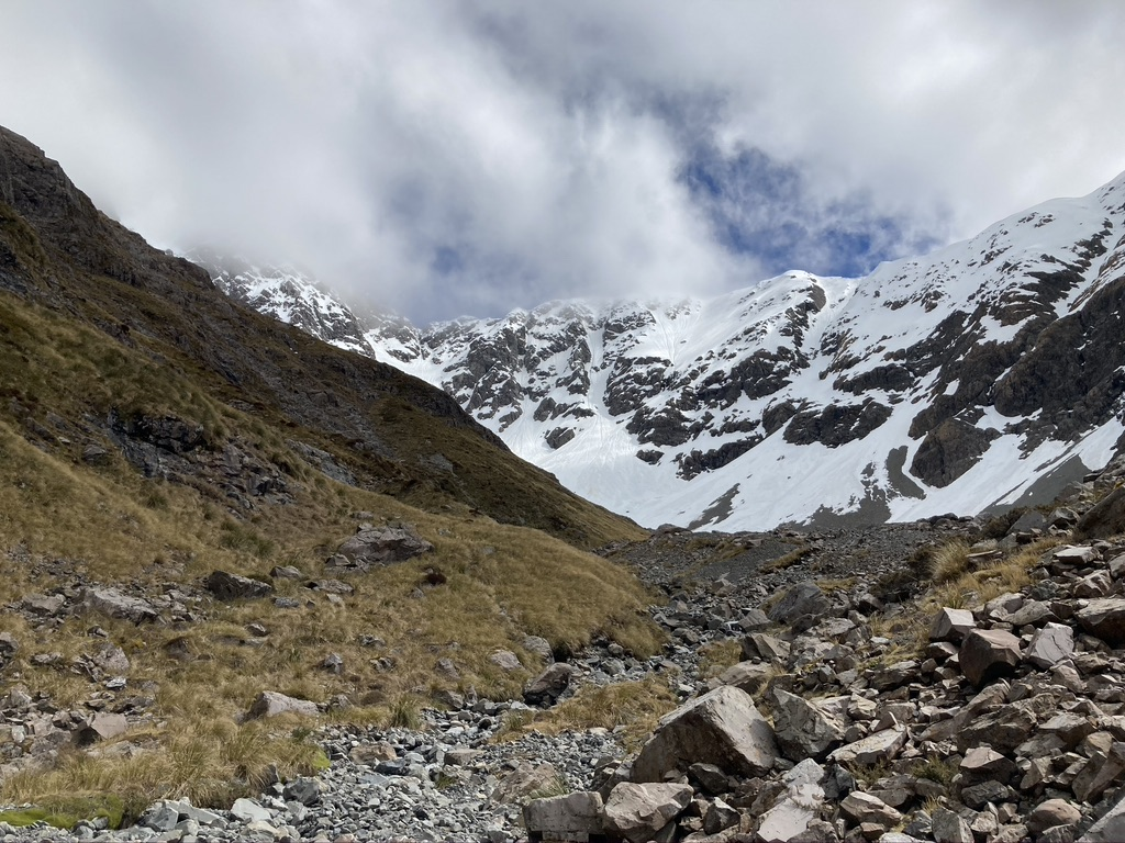 Looking back at the head of the Otira Valley