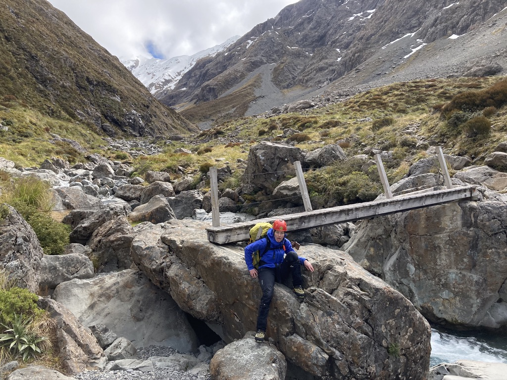 This bridge marks the furthest point of the official DOC track in the Otira Valley, and also the point at which you feel like just giving up!