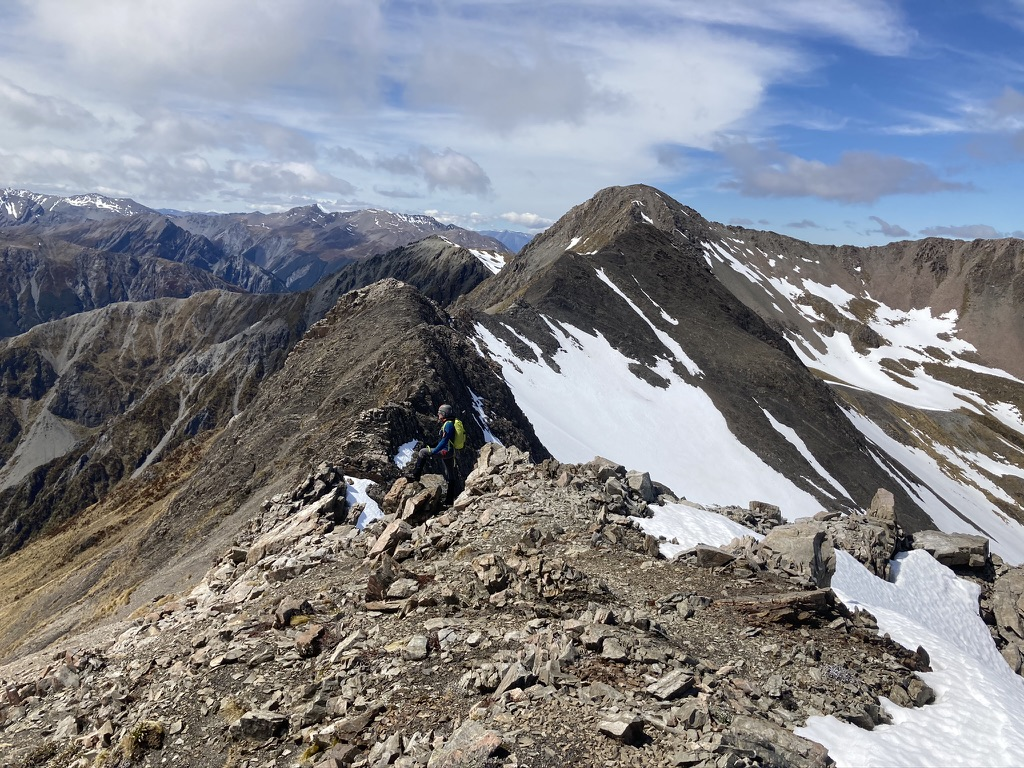 The last ridge before Mt Bealey is quite broken in places, basic scrambling requires and watch for loose rock