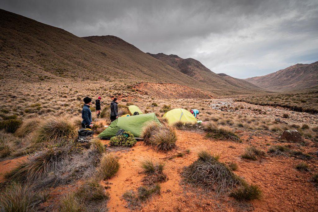 Campsite in Motueka River Right Branch