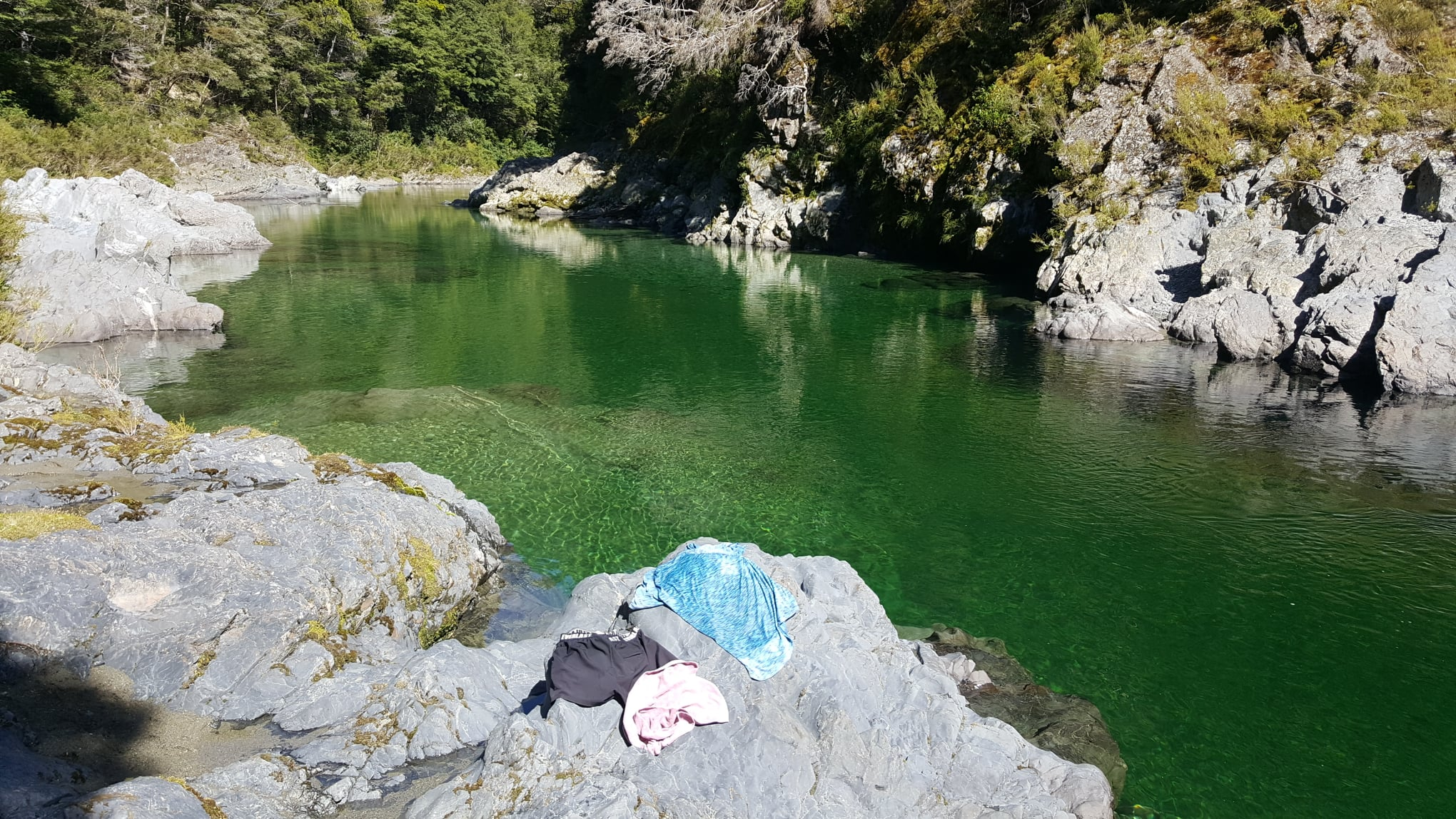 Pelorus River without clothes