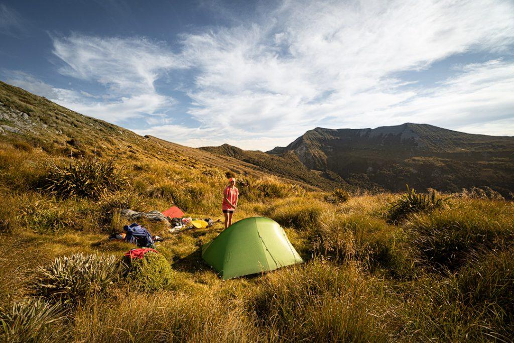 Camping on the Matiri Range
